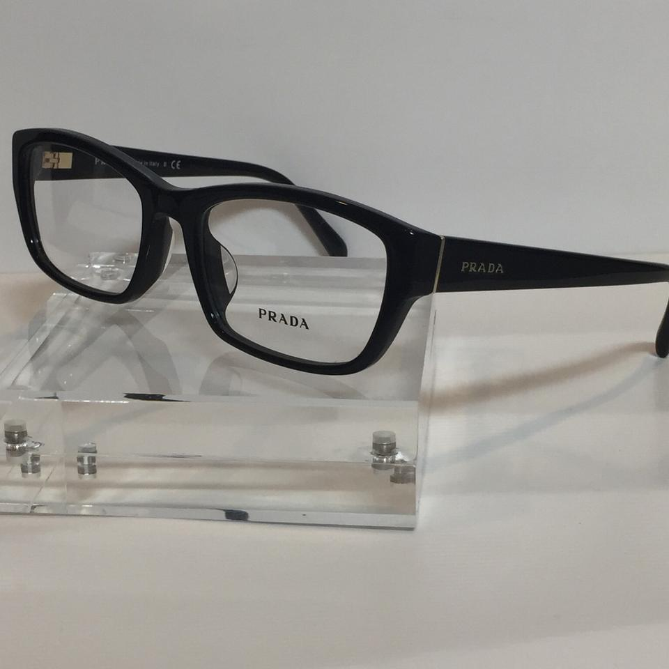 568ac98c8a48 Prada Brand New VPR18O-A black Plastic Asian Fit Eyeglasses 54mm Image 6.  1234567