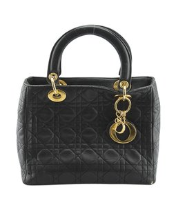 Dior Christian Leather Satchel in xBlack
