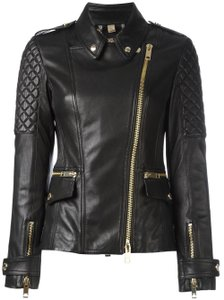 Burberry Moto Biker Quilted Leather Jacket