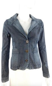 Edun Blazer Jean Faded Womens Jean Jacket