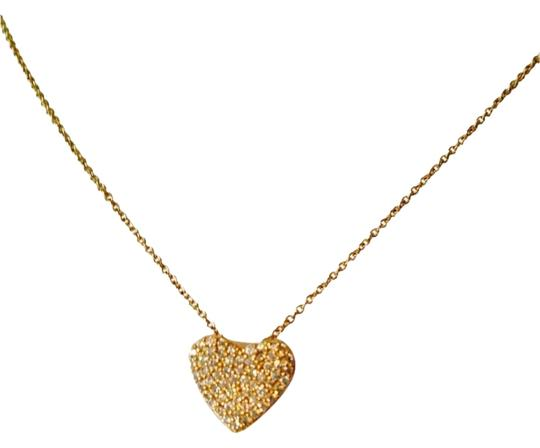 Preload https://item3.tradesy.com/images/goldwhite-nwot-pave-set-cubic-zirconia-heart-in-14kt-gold-plated-sterling-silver-necklace-2273492-0-0.jpg?width=440&height=440
