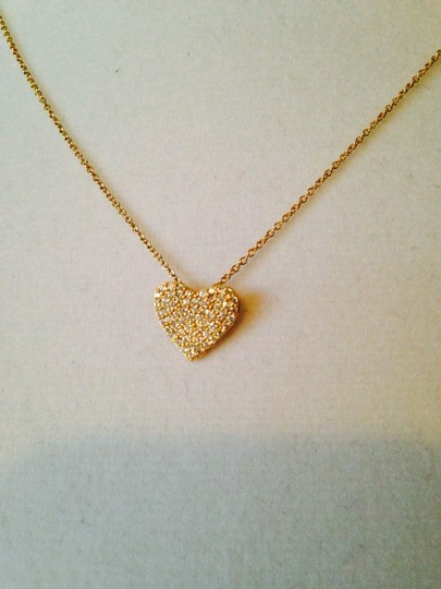 Embellishwd by Leecia NWOT Pave Set Cubic Zirconia Heart In 14kt Gold-Plated Sterling Silver Necklace