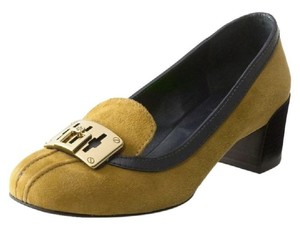 Tory Burch Suede Tan Work Camel Pumps