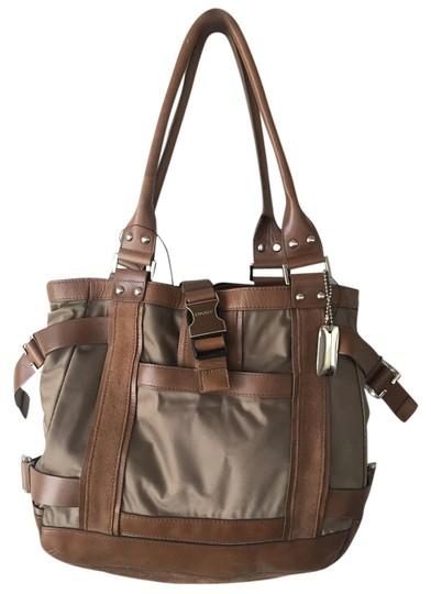 Preload https://item5.tradesy.com/images/dkny-urban-fusion-brown-tarnish-fabric-base-with-leather-and-suede-trim-shoulder-bag-2273509-0-0.jpg?width=440&height=440