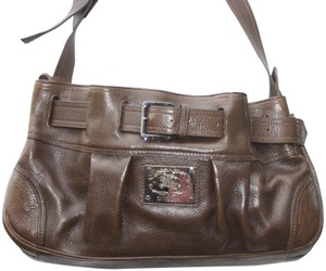 Burberry London Handbag Leather Leather Handbag Tote in Brown