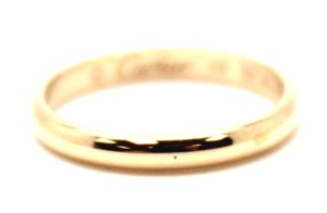 Cartier 18K gold ring size 4.5 48 men women wedding band ring 1895 thin