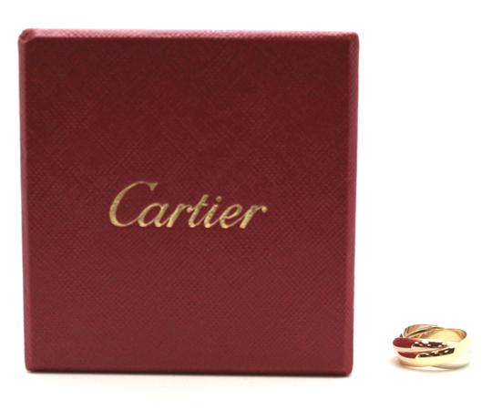 Cartier 18K gold wide Trinity ring size 4.5 48