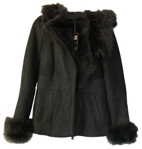 Victoria Shearling Leather Shearling Jacket Fur Coat