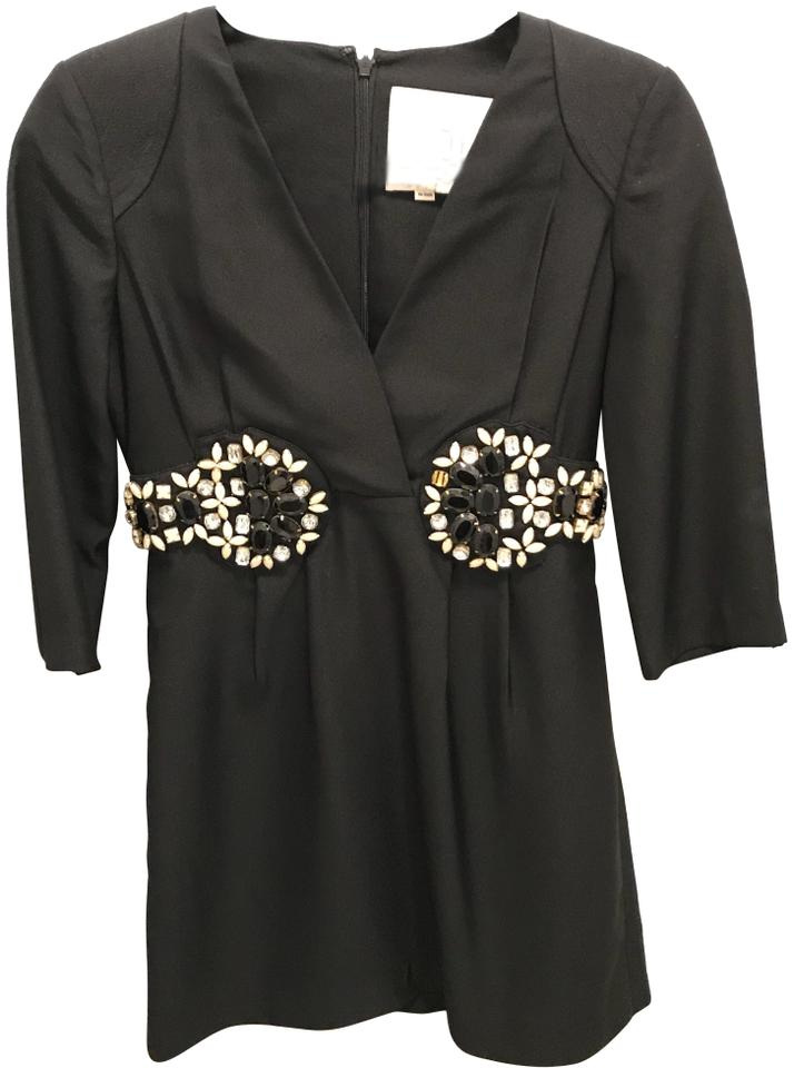 karta s Karta Black Embellished Short Cocktail Dress Size 4 (S)   Tradesy karta s