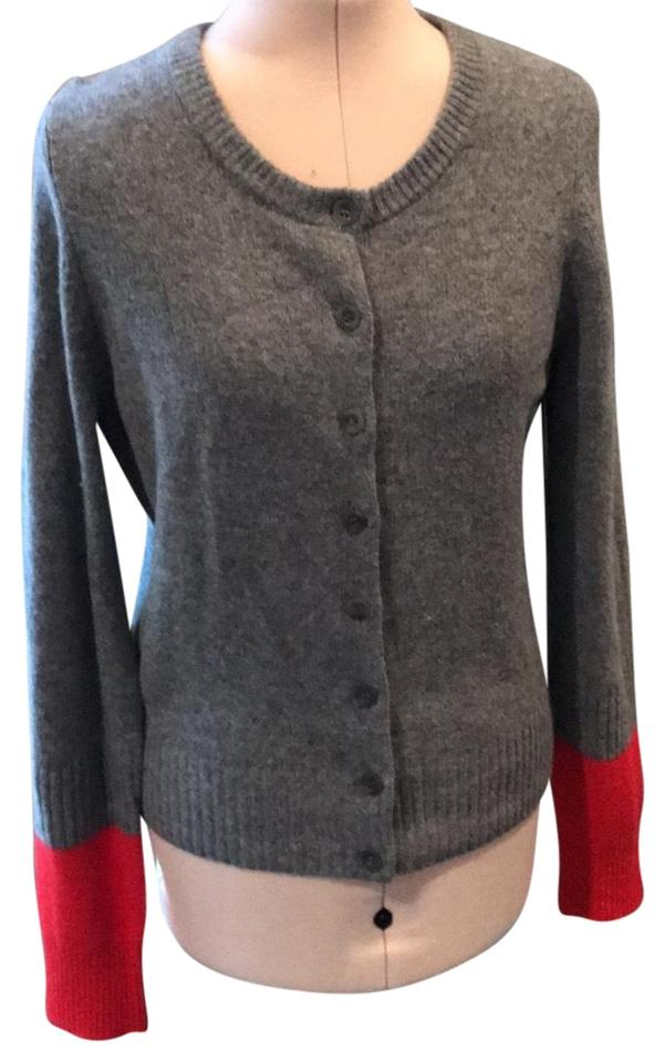 marc by marc jacobs gray and red cardigan sweater pullover size 12 l tradesy. Black Bedroom Furniture Sets. Home Design Ideas
