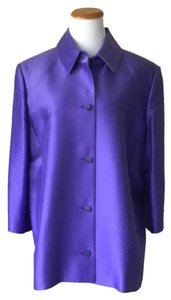 Linda Allard Ellen Tracy Purple Jacket