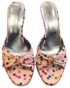 Coach White with colored polka dots Pumps