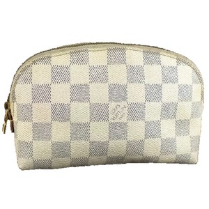 Louis Vuitton Authentic Louis Vuitton Damier Azur Pochette Cosmetic Pouch