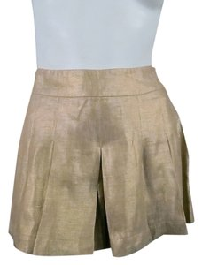 Etro Skort Pleated Box Pleat Skort Gold