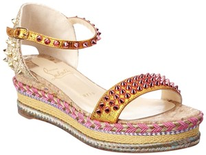 Christian Louboutin Resort Spikes Espadrilles Colorful orange Sandals