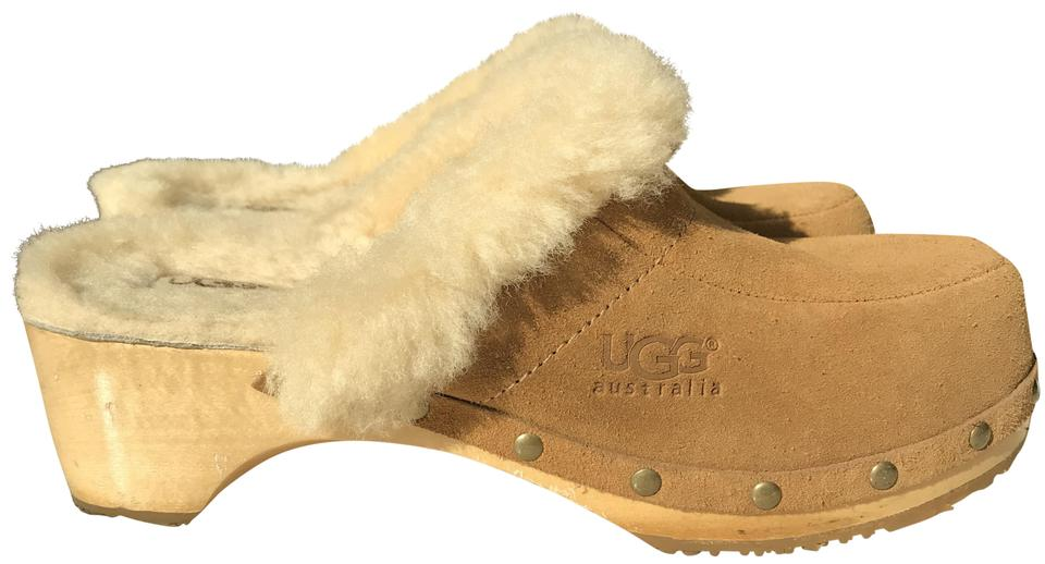 d9e838de35e UGG Australia Brown Womens Suede Sheepskin Lined Kalie Mules/Slides Size US  6.5 Regular (M, B) 73% off retail