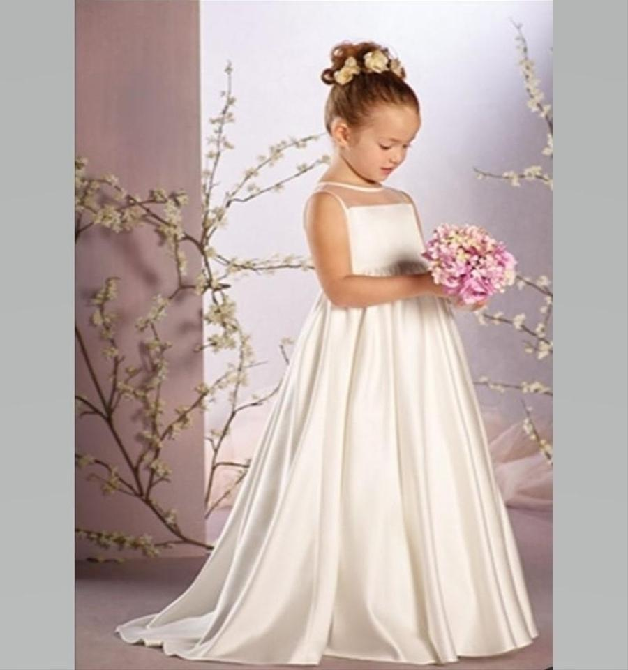 Alfred Angelo Ivory Disney Fairy Tale Weddings 735 Belle Flower Girl ...