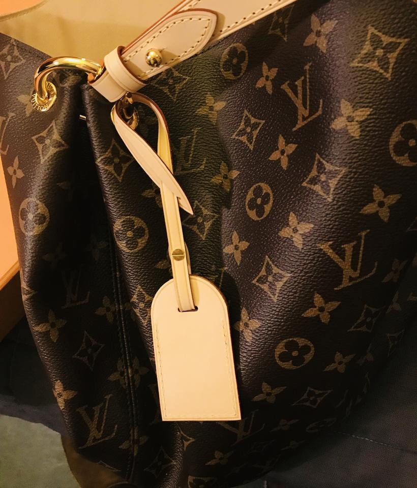 c9b24c9f0e26 Louis Vuitton Graceful Mm Brown Beige Monogram Leather Canvas Hobo Bag -  Tradesy