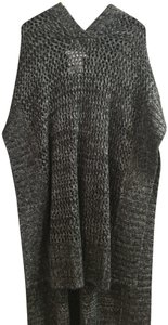 BCBGeneration Hooded Loose Knit Cape