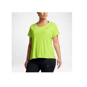 Nike Nike Plus Women's Dry Miler SS 1XL Yellow SS Shirt