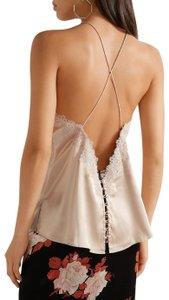 cami nyc Camisole Silk Lace Trim Top Dusty Rose