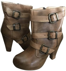 Bed Stü Ankle Leather Platform Tan Glove Boots