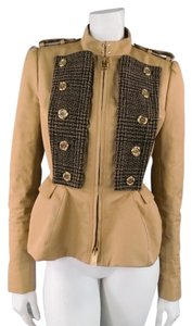 Burberry Prorsum Military Peplum Structured Epaulet Gold Military Jacket
