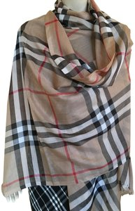 Burberry Burberry Giant Check Wool/Silk Shawl New with Tags