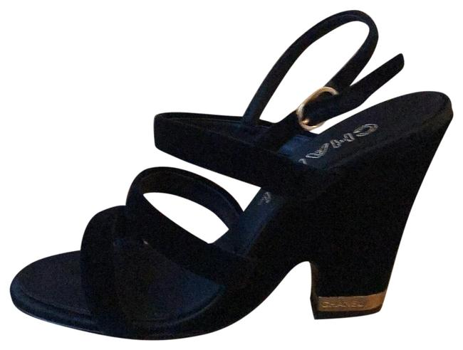 Chanel Black Gold New Sandals Size EU 39 (Approx. US 9) Regular (M, B) Chanel Black Gold New Sandals Size EU 39 (Approx. US 9) Regular (M, B) Image 1