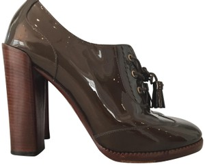 Marc by Marc Jacobs Patent Leather Bronze/Brown Oxford Bronze/Brown Platforms