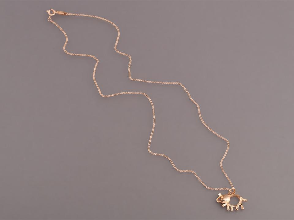 35e573056af81 Tiffany & Co. 18k Rose Gold Save The Wild Elephant Charm Necklace 25% off  retail