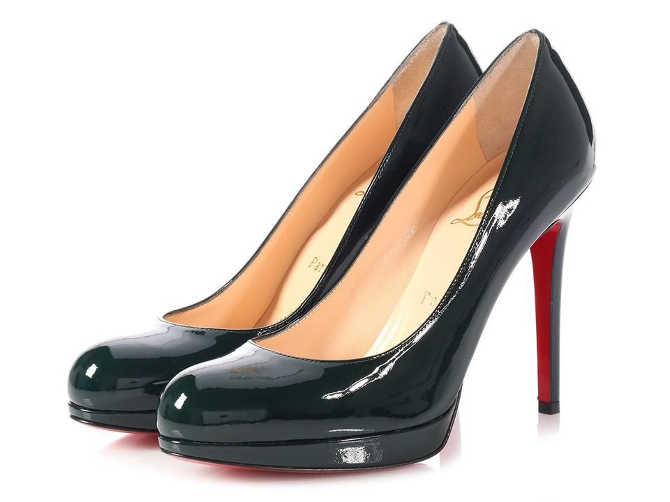 2df328244fa Christian Louboutin Green Classic New Simple 120mm Patent Leather Round Toe  Heels Pumps Size EU 36.5 (Approx. US 6.5) Regular (M, B)