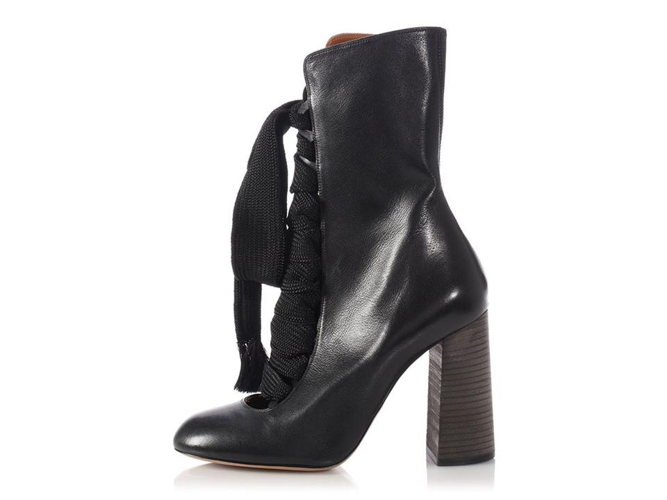 422bd8b3 Chloé Black *sold On Ebay*black Leather Harper Lace Up Boots/Booties Size  EU 40 (Approx. US 10) Regular (M, B) 34% off retail