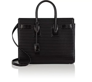 Saint Laurent Ysl Sac De Jour Satchel in black
