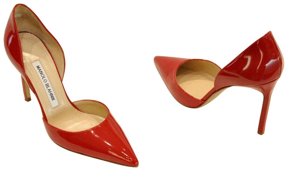 3cf2a5b4ff0 Manolo Blahnik Red Tayler Patent Leather D orsay Pumps. Size  EU 36.5  (Approx. US 6.5) Regular (M ...