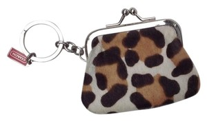 Coach Coach Ocelot Haircalf Coin Purse Keyfob
