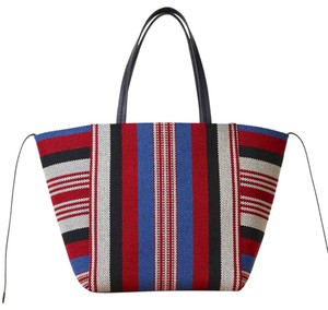Céline Cabas Striped Phantom Tote in Red, White, Blue