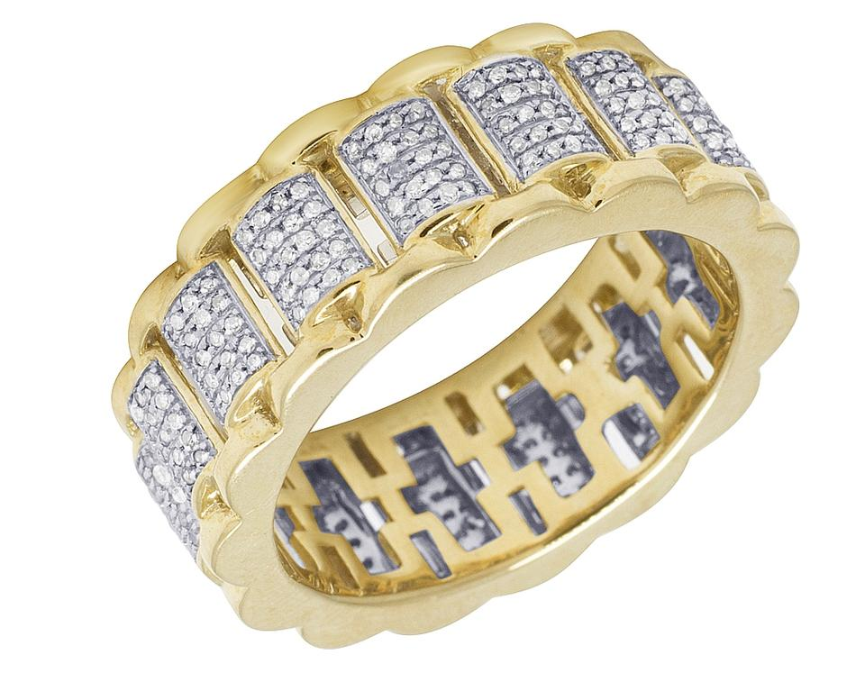 band tap yellow bands eternity gold diamond baguette