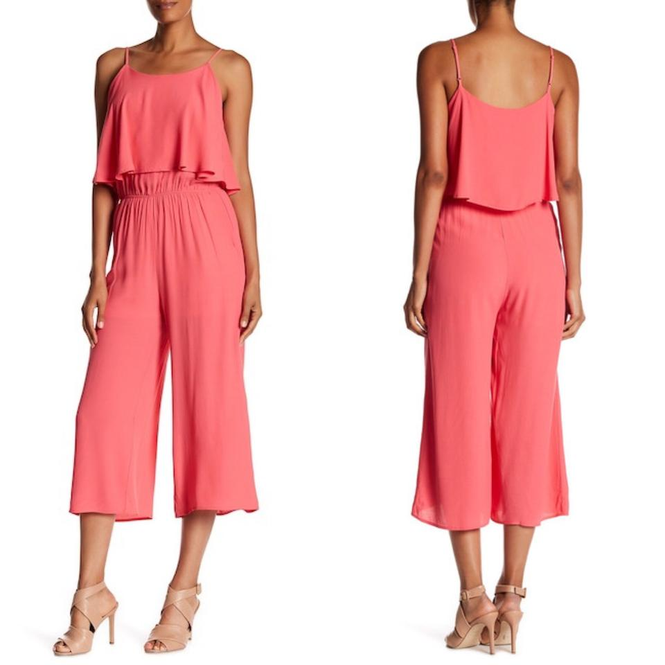 b3c14a98052 Nordstrom Coral Fraiche By J Ruffle Size Medium Romper Jumpsuit ...