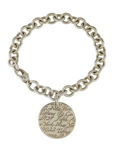 Tiffany & Co. NOTE SILVER ROUND TAG BRACELET
