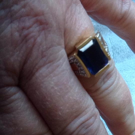 Other Unisex Iolite And Diamond Ring In 14 Gold