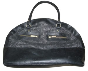 H&M Satchel in Black/Silver