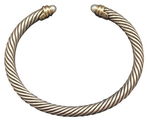 David Yurman Cable Classic Bracelet w/Pearls (Silver/Gold)