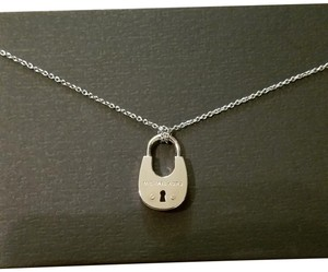 Michael Kors Michael Kors Silver Tone Lock Necklace