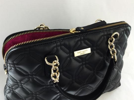Kate Spade Quilted Satchel in Black