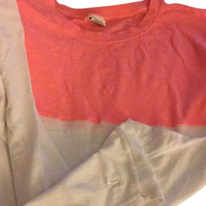 PINK T Shirt white & coral