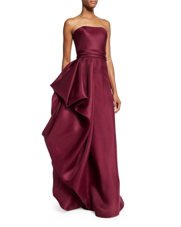 Red Strapless Draped Gown Long Formal Dress Size 10 (M) - Tradesy