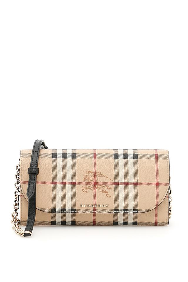 c1cb9f18d64a Burberry Haymarket Check Wallet with Chain Cross Body Bag - Tradesy