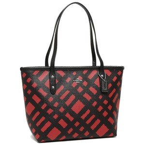 Coach Tote in Black and Red