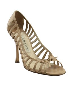 Jimmy Choo Leather Tan Pumps